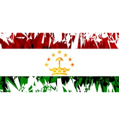 Flag of Tajikistan vector image vector image