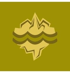 flat icon on stylish background melting glacier vector image