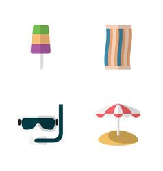 Flat icon season set of sundae wiper scuba vector