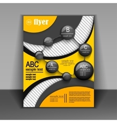 Flyer design or booklet with elements of vector