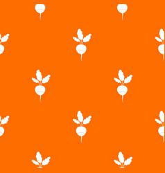 Fresh radish pattern seamless vector