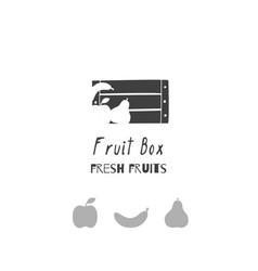 fruit logo template vector image vector image
