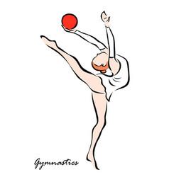 Gymnastics vector