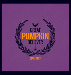 halloween pumpkin text background great pumpkin vector image