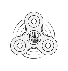 Hand spinner badge label or banner template vector