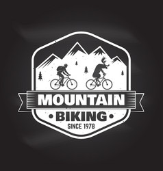 mountain bike club vector image vector image