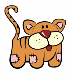 plush kitty vector image