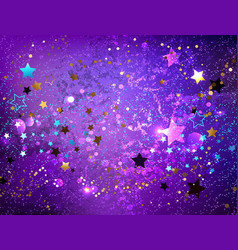 Purple background with stars vector