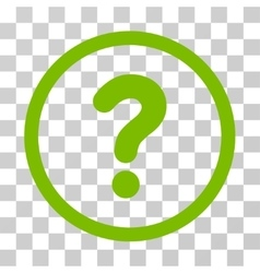 Question rounded icon vector