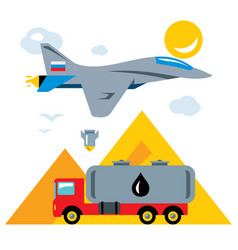 Russian aviation in syria abstract concept vector