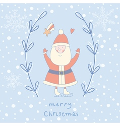 Santa claus wreath vector