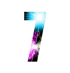 sparkler firework figure isolated on white vector image vector image