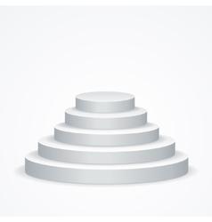 Stairs Podium vector image