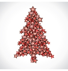 Star christmas tree vector