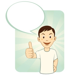 Thumbs Up Man vector image