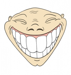 toothy smile vector image