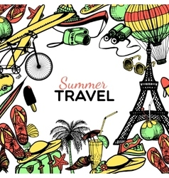 Travel Doodle Frame vector image