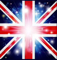 union jack flag background vector image vector image