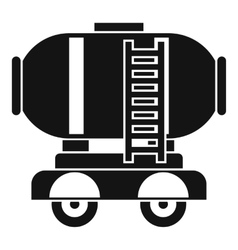 Waggon storage tank with oil icon simple style vector