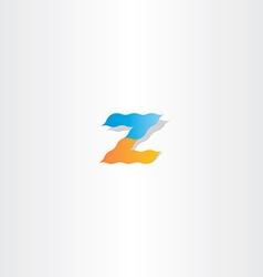 Z logo letter z icon vector