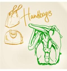 sketch handbags vector image