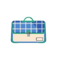 Schoolbag icon in flat style vector image