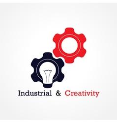Creative light bulb and gear abstract vector