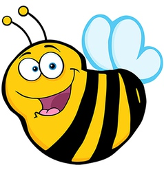 Bee cartoon mascot character vector