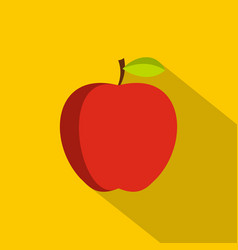 Apple icon flat style vector