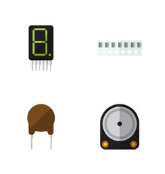 flat device set of display hdd triode and other vector image