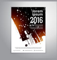 Abstract ink splatter business brochure flyer vector
