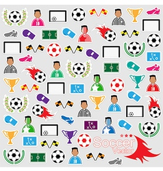 Soccer background icons set eps10 vector