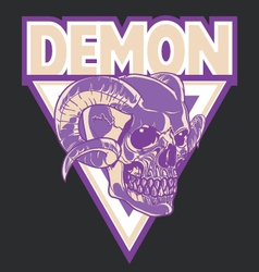 Demon head logo vector