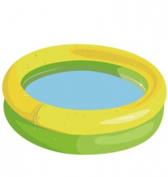 inflatable pool vector image