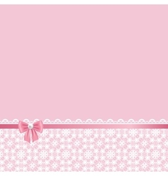 lace frame on pink background vector image