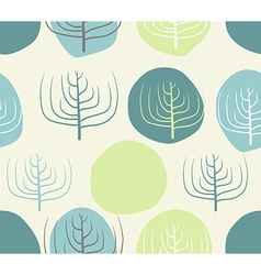 Dry branches and circles seamless patettrn retro vector
