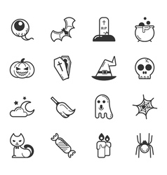 Set of halloween icons  eps10 format vector