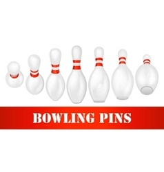 Bowling pins set vector