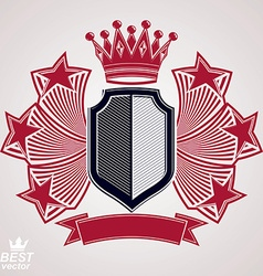 Royal stylized graphic symbol shield vector