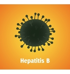 Hepatitis b virus single isolated with text vector