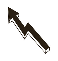 arrow business growth profit finance chart icon vector image