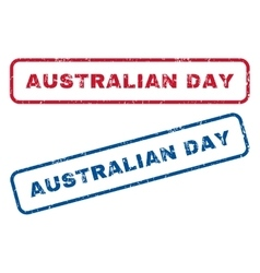Australian day rubber stamps vector