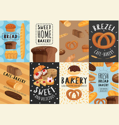 Bakery posters and banners set vector