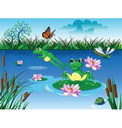 Cartoon frog design vector