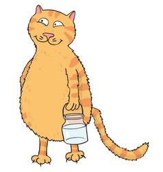 Cartoon image of cat vector