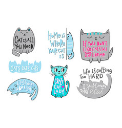 Crazy love cat lady shirt quote lettering vector
