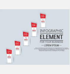 Element for infographic template stiker number vector