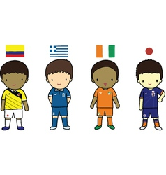 FIFA 2014 Football Players Group C vector image
