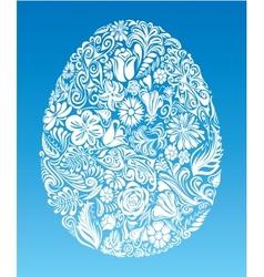 Floral egg vector