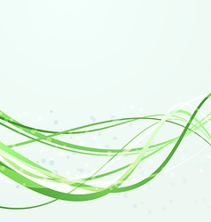 Green swoosh abstract lines template vector image vector image